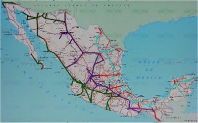 La extensión de las tres rutas de fibra óptica tiene un total de 21, 208 km