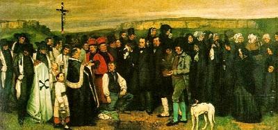 """Pintura realista : """"Un entierro en Ornans"""" (1849-1850), Gustave Courvet"""