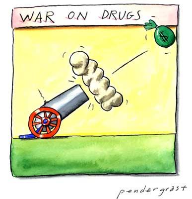 """""""Guerra contra las drogas"""" Imagen: www.pendyman.com"""